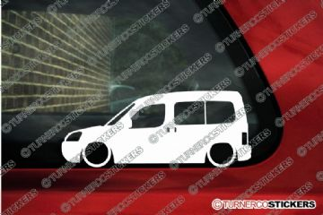 2x LOW Citroen Berlingo Multispace facelift 2002-2008 outline Silhouette stickers, Decals